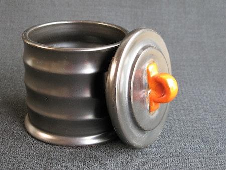 black/orange tobacco jar 2283a
