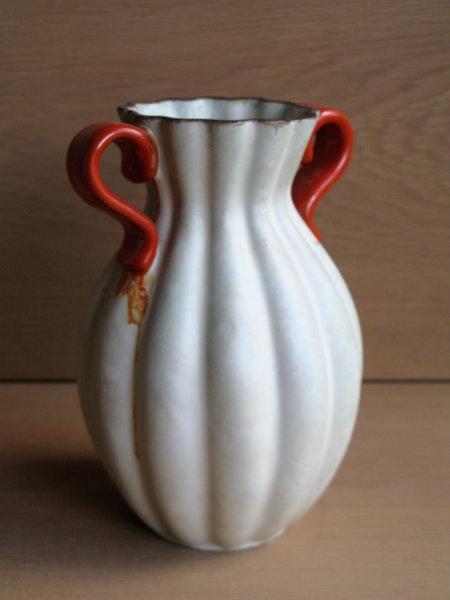 greyish/orange vase 311