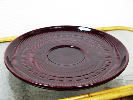 large burgundy plate 51
