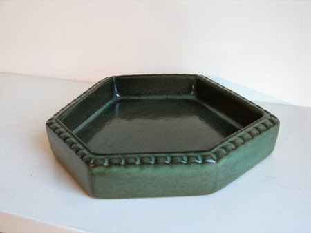 green ashtray 6028
