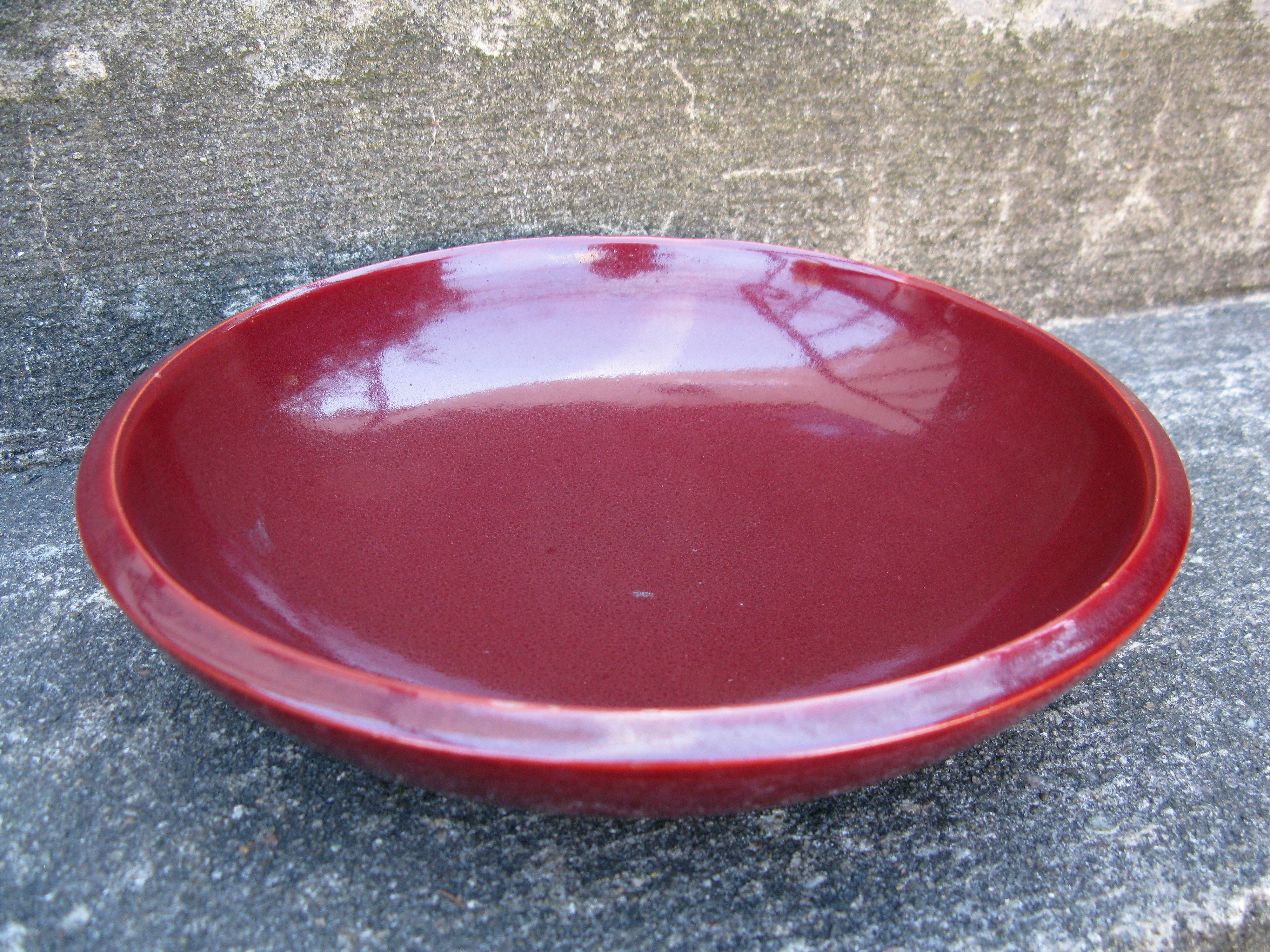 burgundy bowl 227