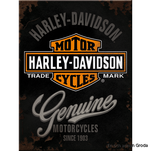 MAGNET metallskylt Harley-Davidson