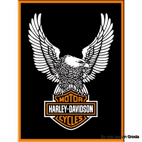 MAGNET metallskylt Harley-Davidson örn