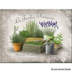 MAGNET Lavendel metallskylt Trädgård