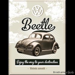 MAGNET Bubbla/Folkvagn metallskylt VW
