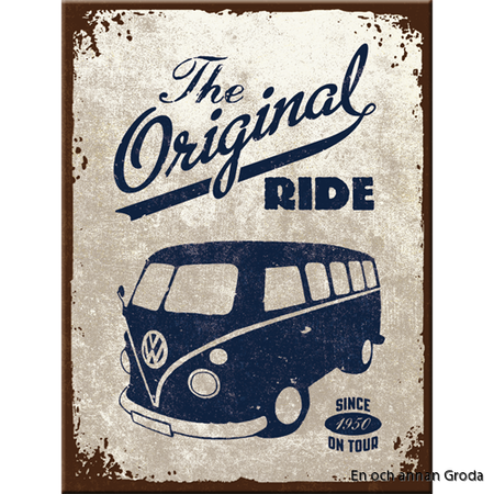 MAGNET Buss metallskylt VW