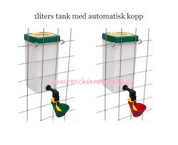 ENBART 1 liters TANK vatten HÖNS/ANKA/VAKTEL