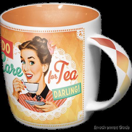 Do I look like I care I do care for Tea DARLING MUGG Feminist