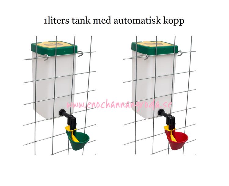 Röd/grön KOPP med 1 liters TANK eller enbart TANK