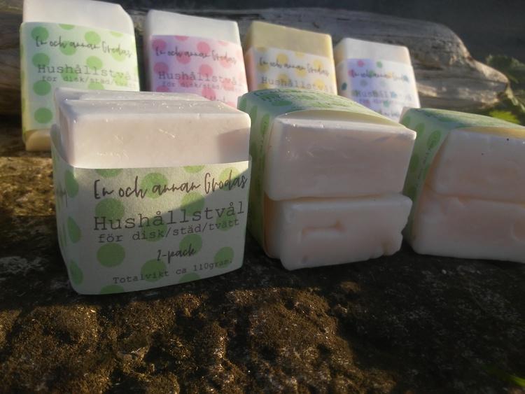 Nyhet! Miljövänlig HUSHÅLLSTVÅL disk/städ/tvätt ingen doft