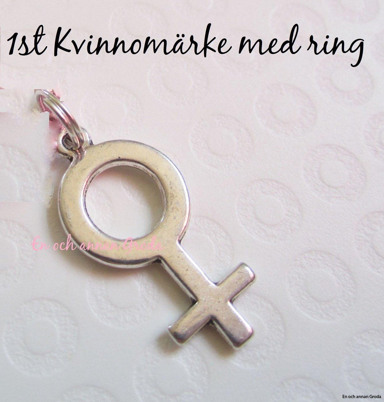 1st Kvinnomärke Hänge med ring till halsband/armband