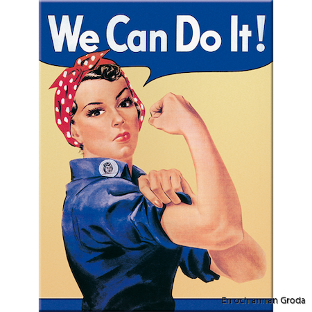 MAGNET (metall) We can do it! Feminist