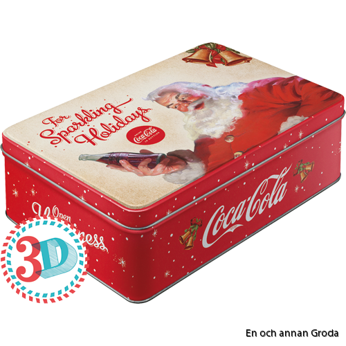 Rea! Coca Cola The sparkling Holidays BURK METALL TOMTE JUL X-MAS