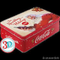 Rea! Coca Cola The sparkling Holidays BURK METALL TOMTE JUL X-MAS