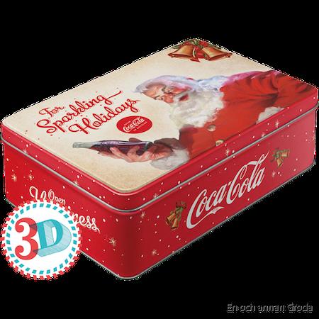 Coca Cola The sparkling Holidays BURK METALL TOMTE JUL X-MAS