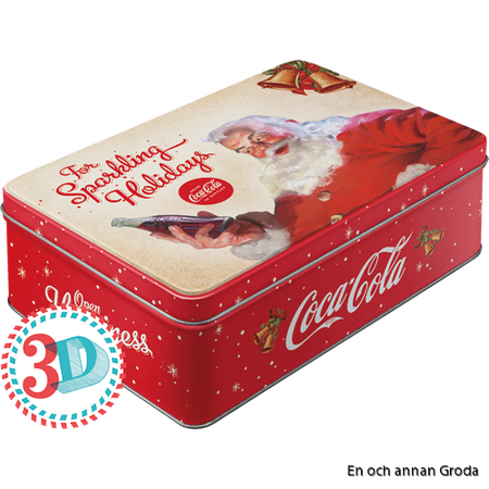 Coca Cola The sparkling Holidays BURK METALL TOMTE JUL X-MAS