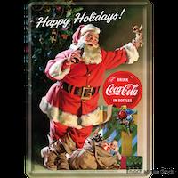 JULKORT TOMTE Coca Cola METALLSKYLT