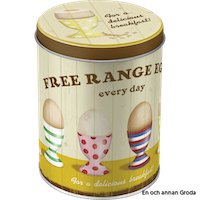 FREE RANGE EGGS EVERY DAY - for a delicious breakfast BURK 1liter HÖNS/ANKA/ÄGG
