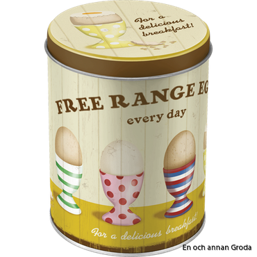 FREE RANGE EGGS EVERY DAY - for a delicious breakfast BURK 1liter HÖNS/ANKA/ÄGG