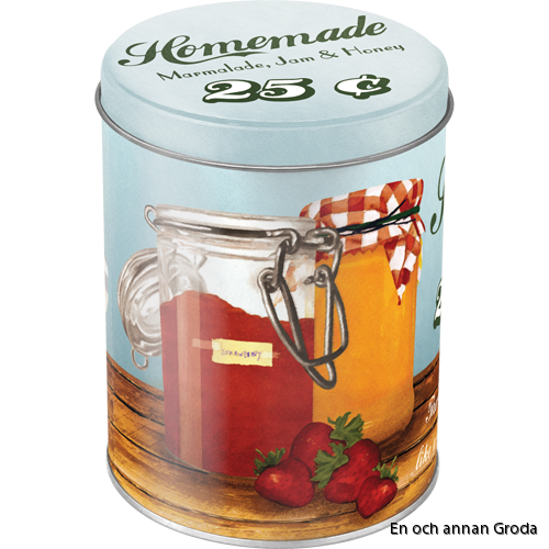 Burk 1liter HOMEMADE Marmalade, Jam & Honey - Theres nothing like a sweet breakfast! Vintage Retro honung