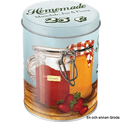 Rea! Burk 1liter HOMEMADE Marmalade, Jam & Honey - Theres nothing like a sweet breakfast! Vintage Retro honung
