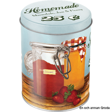 Rea! Burk 1liter HOMEMADE Marmalade, Jam & Honey - Theres nothing like a sweet breakfast! Vintage Retro honung
