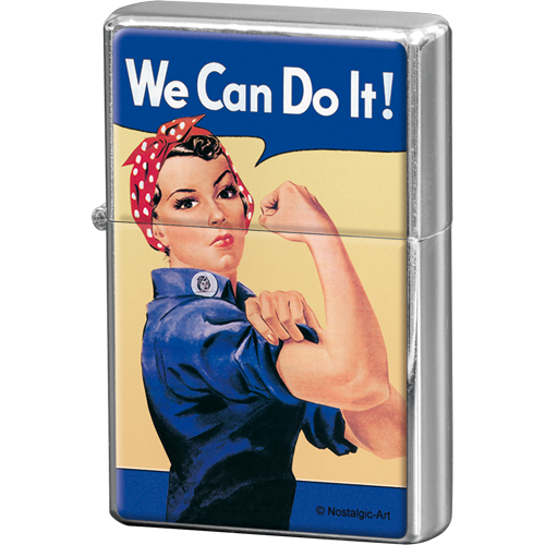 We Can Do It! TÄNDARE Feminist (bensin)