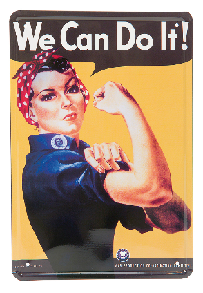We Can Do It! - METALLSKYLT 20x30cm Feminist