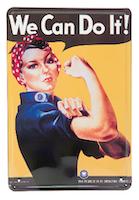 We Can Do It! - METALLSKYLT 20x30cm Feminist
