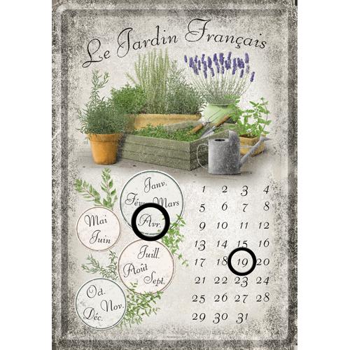 Lavendel METALLSKYLT/VYKORT/Kalender 10x14,5cm Trädgård
