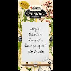 MEMORY BOOSTER the nostalgic pharmacy METALL memo BLOCK 10x20cm Trädgård