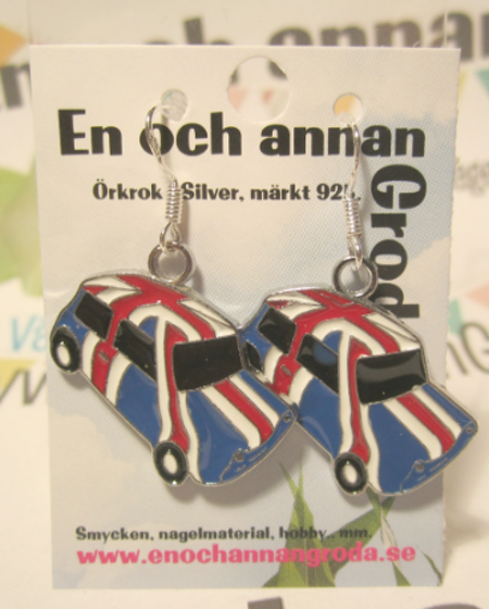 Retro BIL hundkoja Örhängen (engelska flaggan)