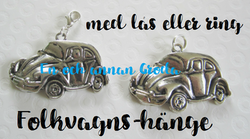 1st Folkvagn/BUBBLA/BiL hänge med ring till halsband/armband Retro TYP 1