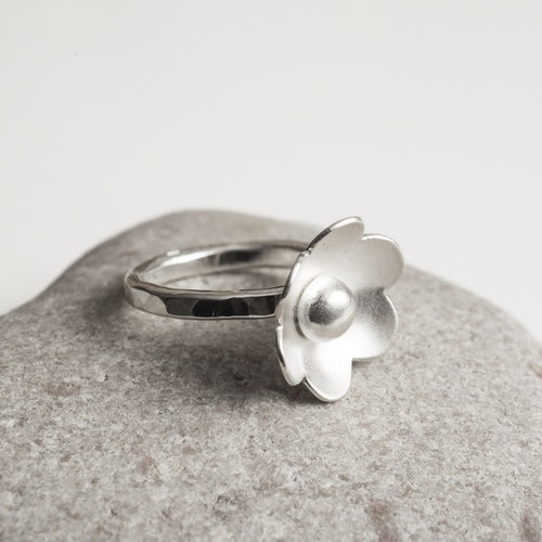 MADE BY LEENA - Blomma, silverring