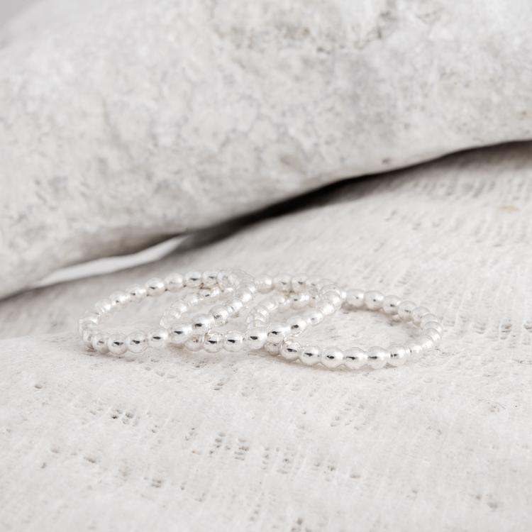 MADE BY LEENA - Kulor på rad, silverring
