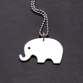 MADE BY LEENA - Elefant, halssmycke i silver