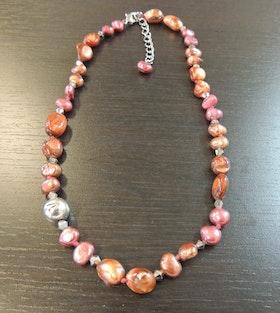 Våga Halsband Rött/rosa