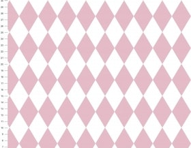 Harlequin rosa/vitt