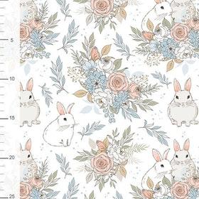 Trädgårdskaniner på vit botten
