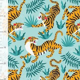 Tigrar på turkos botten