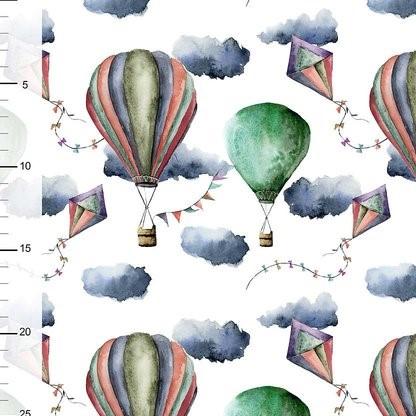 Ballonger och drakar grön