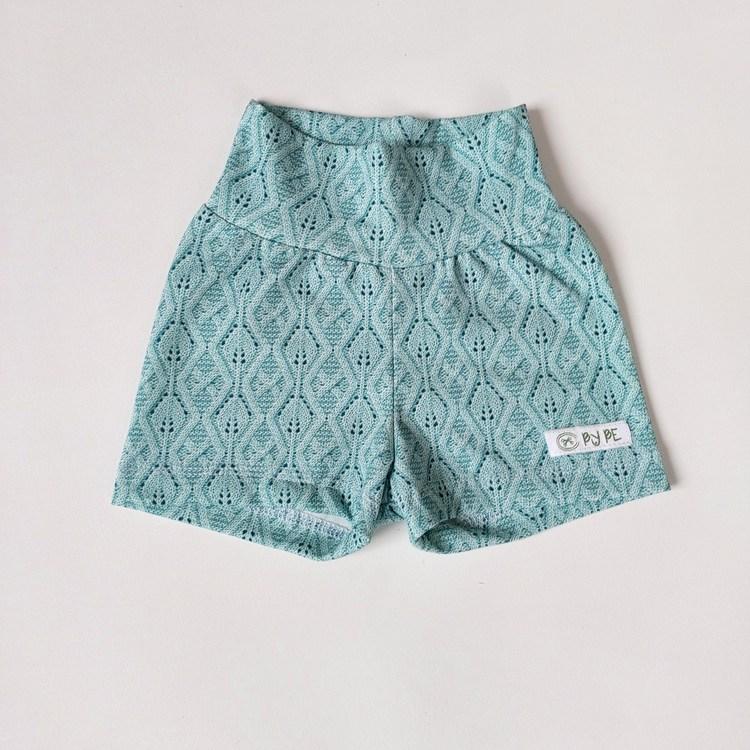 Shorts - Stickad Himmelsblå