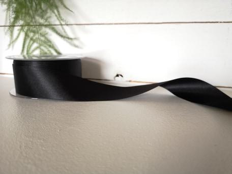 Satinband - Svart 35 mm