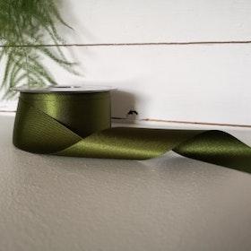 Satinband - Mörkgrön 35 mm