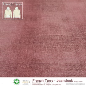 French Terry Jeanslook - Rosenträd