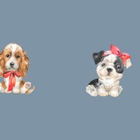 Panel Hundar Duvblå