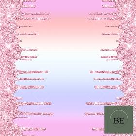 Bård Rainbow Pink Sparkle