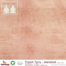 French Terry Jeanslook - Puderrosa