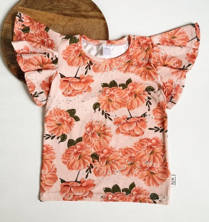 T-shirt med fjärilsärm - Valfritt tyg