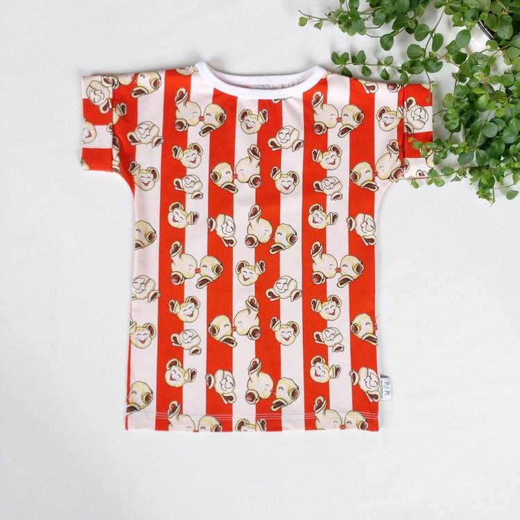 T-shirt med muddärm - Valfritt tyg (Strl 110-134)
